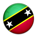 nevis, kitts, saint, Country, flag, And Black icon