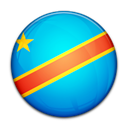 republic, flag, congo, democratic, Country DeepSkyBlue icon