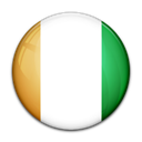 Cote, ivoire, Country, flag Black icon