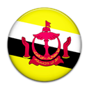 Country, flag, Brunei Black icon