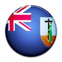 flag, Montserrat, Country Black icon