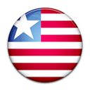 Country, Liberia, flag Black icon