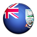 Falkland, Island, Country, flag Black icon