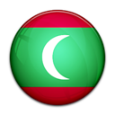 flag, Maldives, Country Black icon
