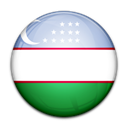 Uzbekistan, flag, Country Black icon