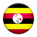 Uganda, Country, flag Black icon