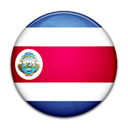 Costa, flag, rica, Country Black icon