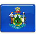 maine, flag RoyalBlue icon