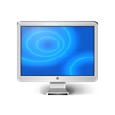 Computer, screen, Display, monitor Black icon