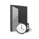 temporary, Folder Black icon