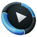Hp, media player, inverse, Dock DarkSlateGray icon