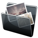 Dock, Folder, pic, picture, photo, image, Hp DimGray icon