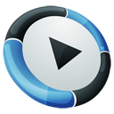 Dock, Hp, media player SteelBlue icon