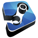 Dock, steam, Hp SteelBlue icon
