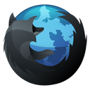 Hp, Firefox, Browser, Dock, inverse DarkSlateGray icon