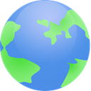 globe, earth, world, planet CornflowerBlue icon
