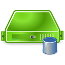 Server, db, Database, green OliveDrab icon