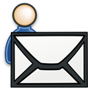 send, Human, user, mail, Message, Account, profile, Email, envelop, Letter, people WhiteSmoke icon