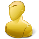 profile, user, anonymous, Account, people, regular, Human, yellow Black icon