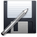 pencil, save, writing, paint, Filesaveas, Edit, disc, write, Draw, Disk, save as, Pen DarkSlateGray icon