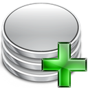 Database, db, Add, plus Silver icon