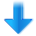 green, Down, Arrow, fall, Descend, Decrease, download, kdevelop, descending, downlaod DodgerBlue icon