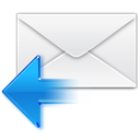 Letter, Message, reply, Response, mail, Email, envelop WhiteSmoke icon
