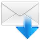 Letter, Message, Get, Email, mail, envelop WhiteSmoke icon