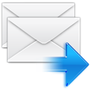 Letter, replyall, Message, Email, mail, envelop WhiteSmoke icon