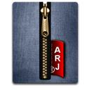 gold, Blue, Arj Icon