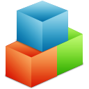 Box, module, Organize SteelBlue icon