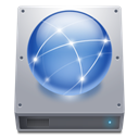 network, hard drive, hard disk, Hdd DarkGray icon