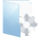 system, Blue GhostWhite icon