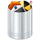 trash can, Full, recycle bin, Trash, Bin, recycle Black icon