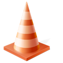 cone, Traffic, Vlc Black icon