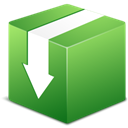 Down, Descend, fall, download, Box, descending, Decrease YellowGreen icon