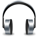 music, Headset, Headphone Black icon