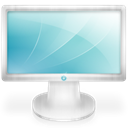 Display, monitor, screen SkyBlue icon