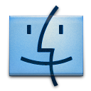 Finder, Dock SkyBlue icon