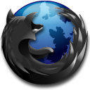 Black, Firefox, Browser DarkSlateGray icon