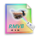 File, paper, video, document, Rmvb Black icon