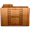 film, video, movie, glossy SaddleBrown icon
