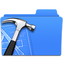 Folder, xcode CornflowerBlue icon