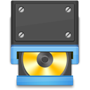 rom, Cd, disc, Disk, save DarkSlateGray icon