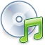 Cd, disc, Audio, save, Disk SteelBlue icon