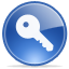 Key, log off, Access, password SteelBlue icon