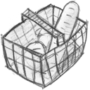 Cart, shopping, E commerce, shopping cart, Basket, Full, webshop, commerce, buy WhiteSmoke icon