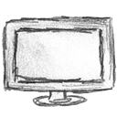 Computer, screen, Display, monitor WhiteSmoke icon