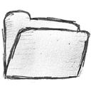 Folder, File, paper, document WhiteSmoke icon