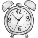 alarm clock, history, time, Alarm, Clock WhiteSmoke icon